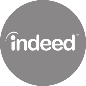 Indeed gray circle icon logo