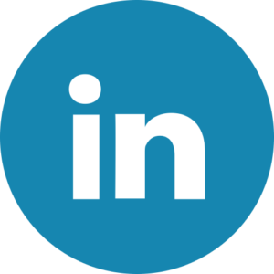 LinkedIn blue circle logo