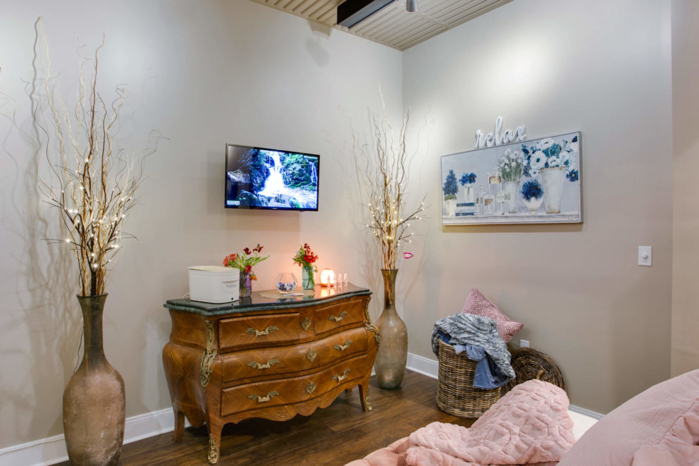 Relaxation Room for Spa Amenities at Cary Tryon Rd Dental office