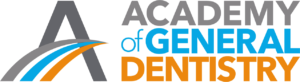 light blue and bright orange Academy of General Dentistry logo