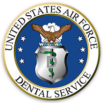 US Air Force Dental Services Logo with blue badge background