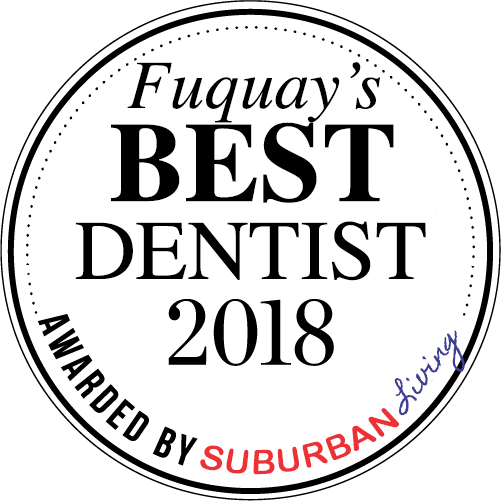 suburban living best dentist award logo