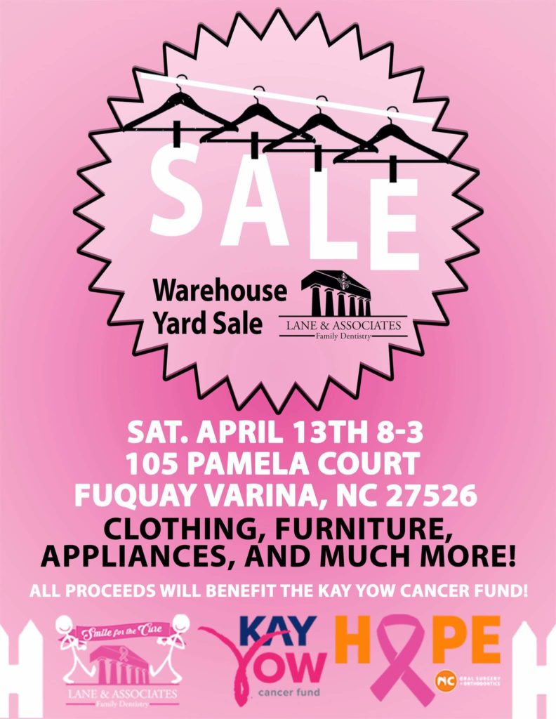 Pink Lane and Associates and Kay Yow Warehouse Yard Sale Poster