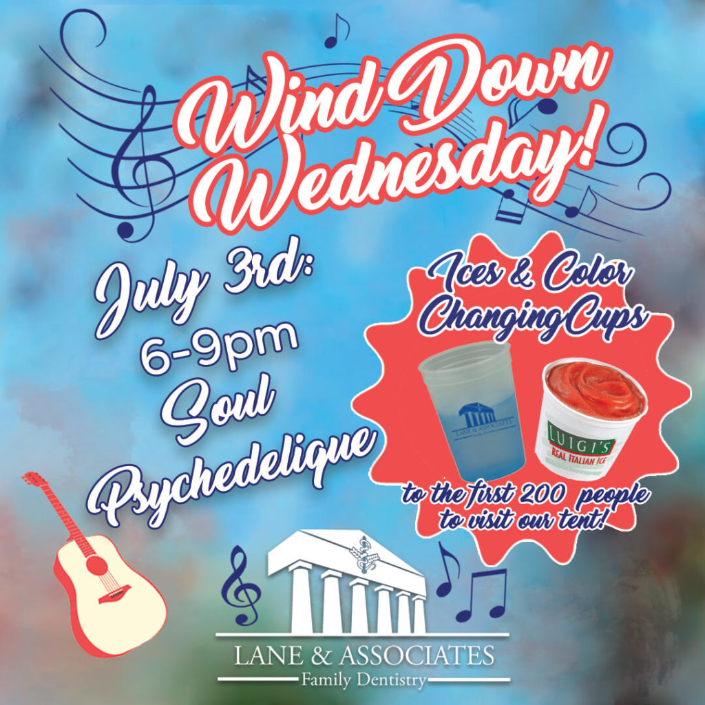 July 3rd Wind Down Wednesday Prize Lane and Associates
