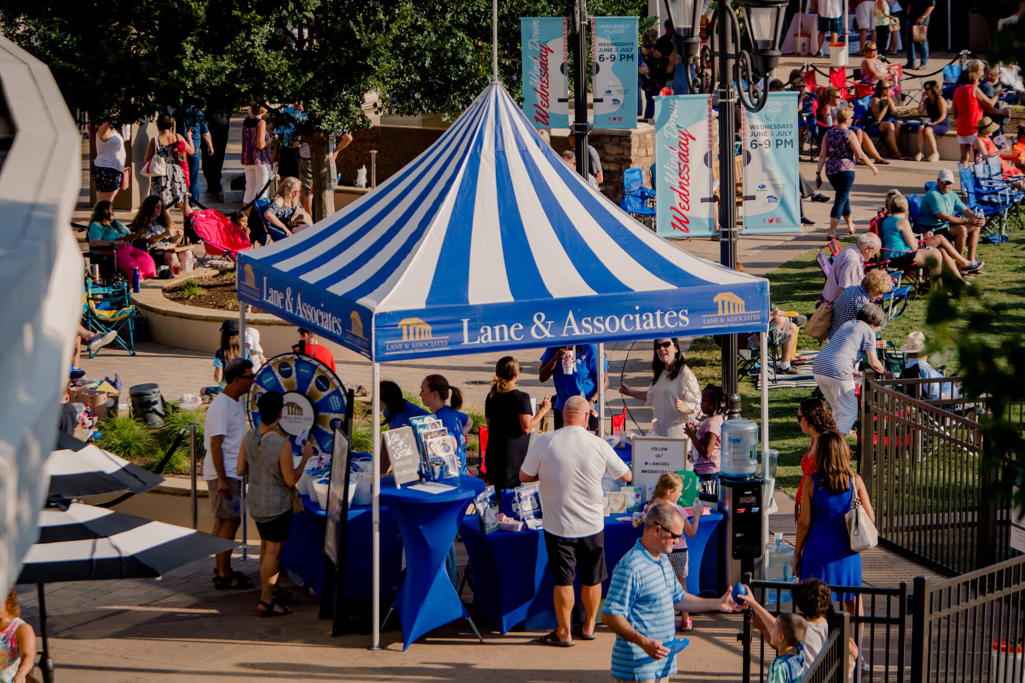 Lane dentistry tent at Wind Down Wednesday in Cary