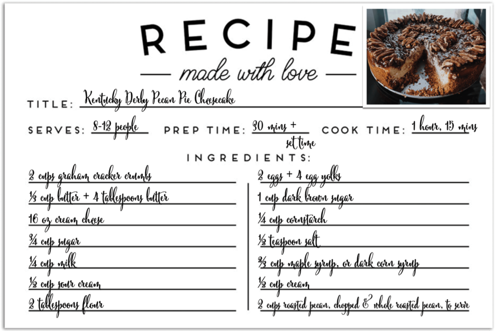 Recipe card for 2nd place doctor bakeoff