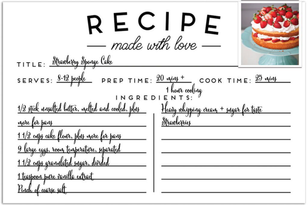 Recipe card for 3rd place doctor bakeoff