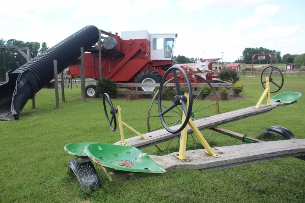 farming equipment seesaws