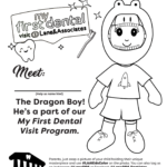 Dinosaur tooth fairy coloring page
