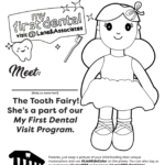Tooth fairy doll coloring page