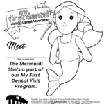 mermaid tooth fairy coloring page