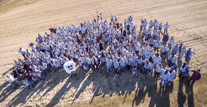 Family Day Drone photo at Phillips Farms