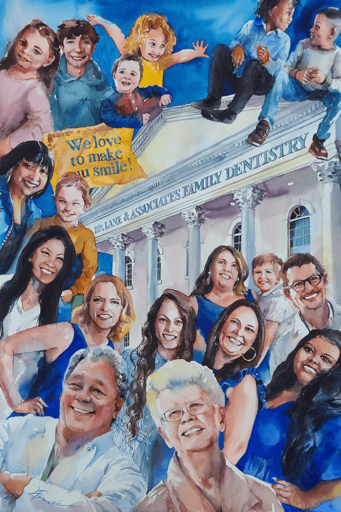 Lane and Associates Family Dentistry Art work