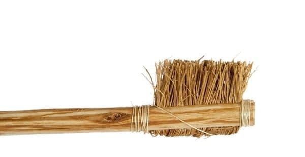 bamboo handled toothbrush with hog hair bristles